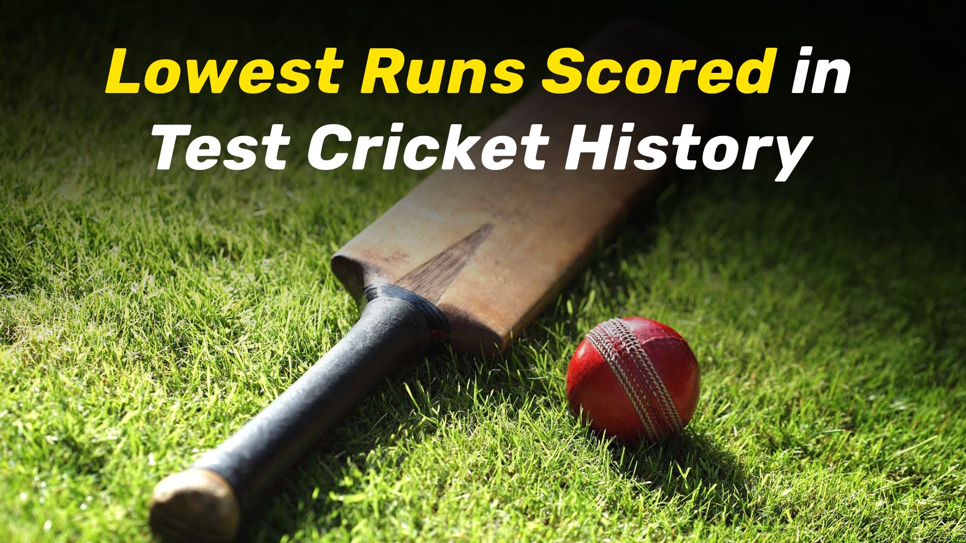 Lowest Scores Ever Recorded In Test Cricket History Blog Myteam11 Com
